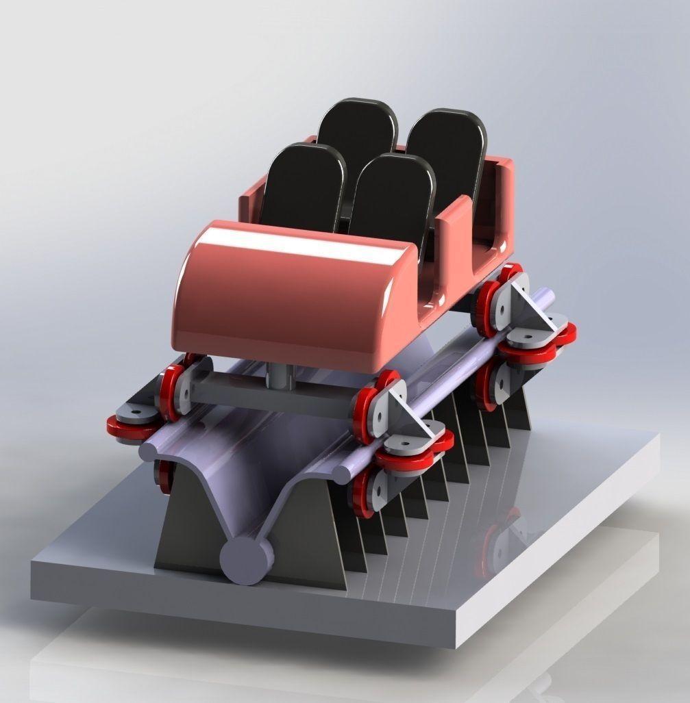 Roller coastor car free 3d model sldprt sldasm slddrw for 3d kuchenplaner roller