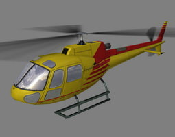 As-350 V4 Helicopter 3D Model