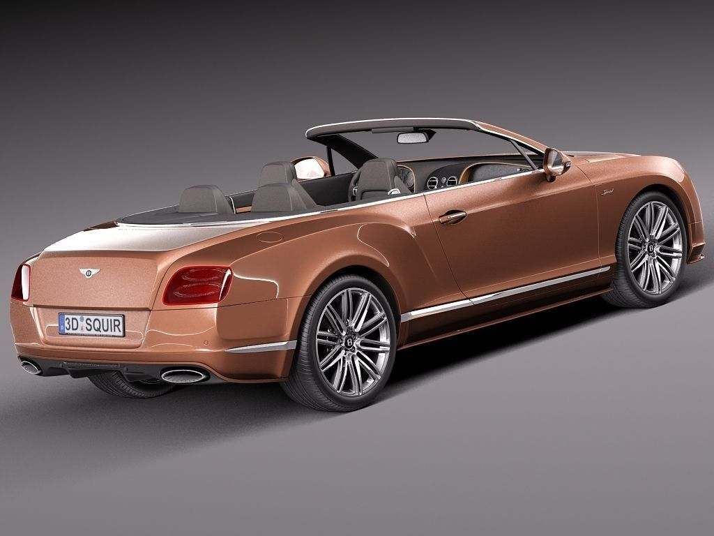 bentley continental gt speed cabrio 2015 3d model max obj. Black Bedroom Furniture Sets. Home Design Ideas