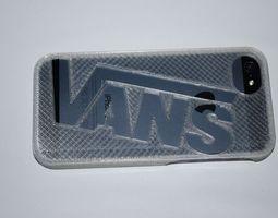3d printable model vans iphone 5 case
