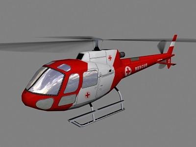 As-350 V6 Helicopter3D model