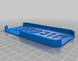 3d print model diesel iphone 5 case