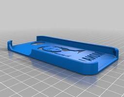 mona lisa stencil case for iphone 5 3d print model