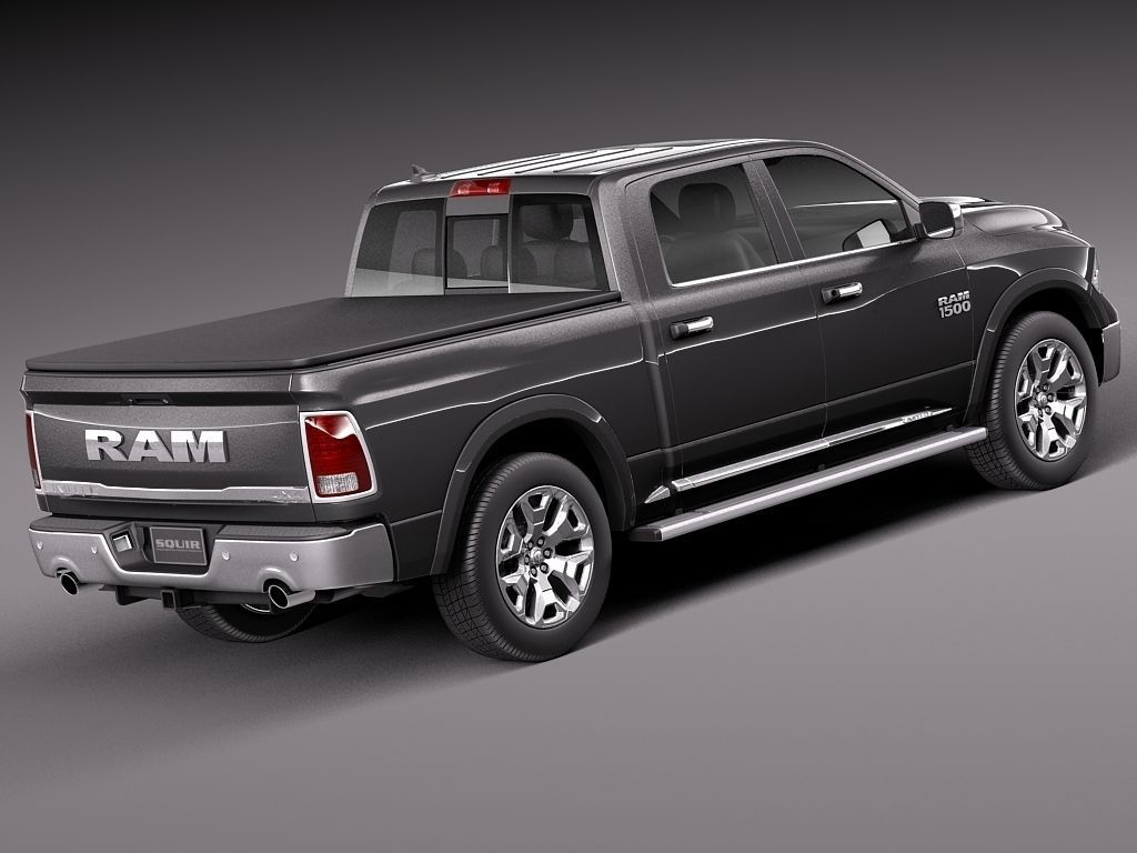 dodge ram 1500 laramie limited 2015 3d model max obj 3ds fbx c4d lwo lw lws. Black Bedroom Furniture Sets. Home Design Ideas