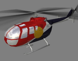 bo105 v4 helicoopter 3d model max 3ds lwo lw lws ma mb
