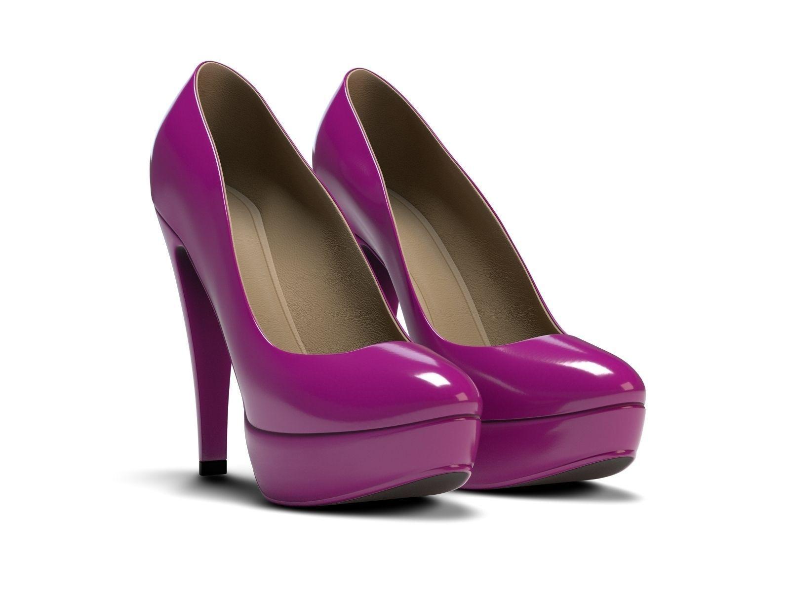 plateau high heels 3d model obj 3ds blend. Black Bedroom Furniture Sets. Home Design Ideas
