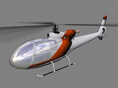 Gazelle V2 Helicopter3D model