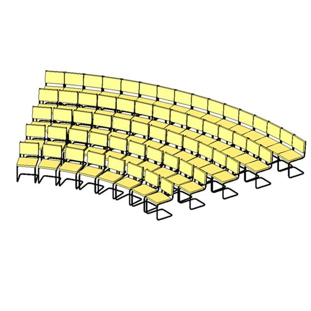 Chair Array Free 3d Model Rfa