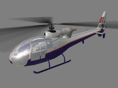 Gazelle V3 Helicopter3D model