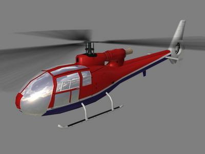 Gazelle V4 Helicopter3D model