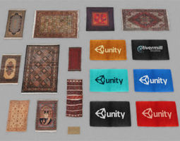 game-ready rugs and mats pack 3d asset