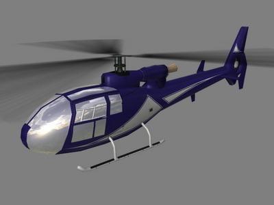 Gazelle V5 Helicopter3D model