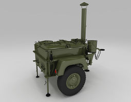 Polish army field kitchen 3D Model