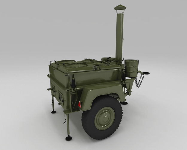 Polish army field kitchen3D model