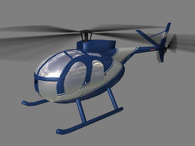 hughes500 v3 helicopter 3d model low-poly max 3ds lwo lw lws ma mb tga 1