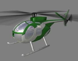 Hughes500 V4 Helicopter 3D Model