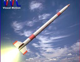 3d model mt-135 rocket