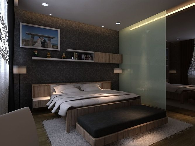 Master bedroom 3D model MAX on New Model Bedroom  id=27887