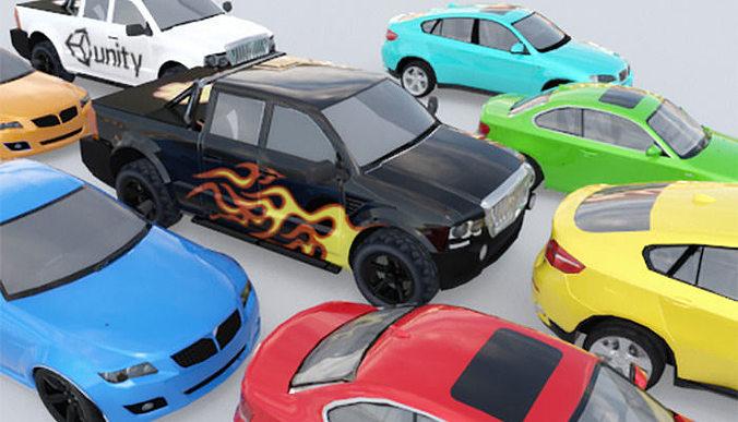 cars pack 3d model low-poly fbx ma mb 1