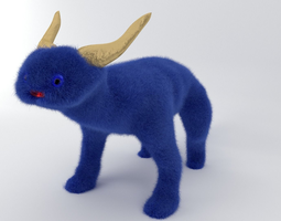Fluffy monster toy 3D model