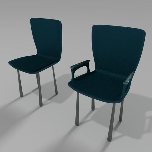 Plastic Chairs Collection 33D model