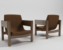Jimmi Armchair - Sergio Rodrigues 3D model
