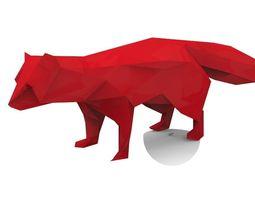 game-ready prehistoric fox 3d model