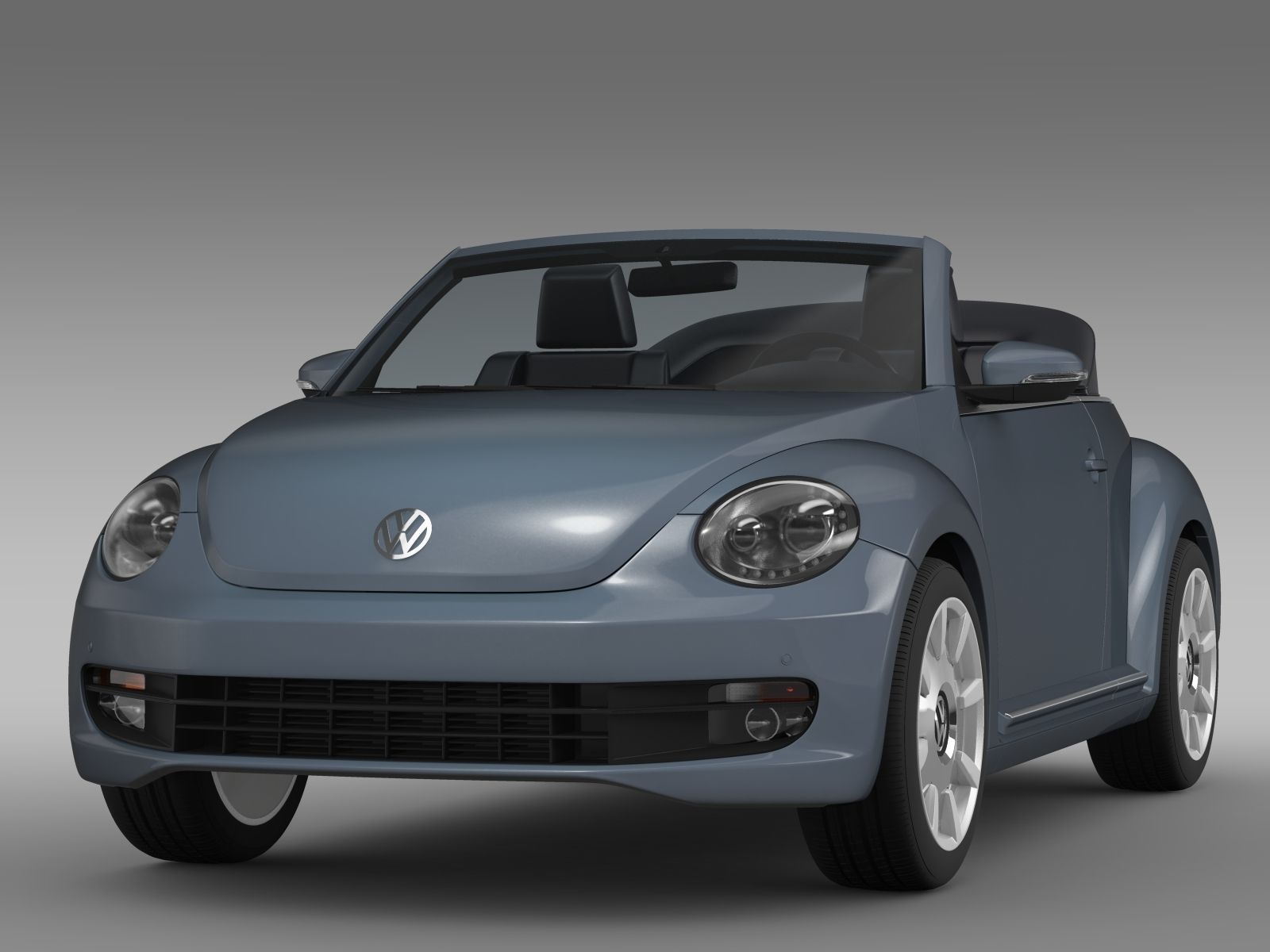 vw beetle cabriolet denim concept 2015 3d model max obj. Black Bedroom Furniture Sets. Home Design Ideas