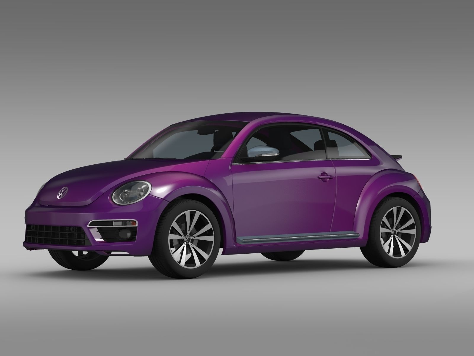 vw beetle pink edition concept 2015 3d model max obj. Black Bedroom Furniture Sets. Home Design Ideas