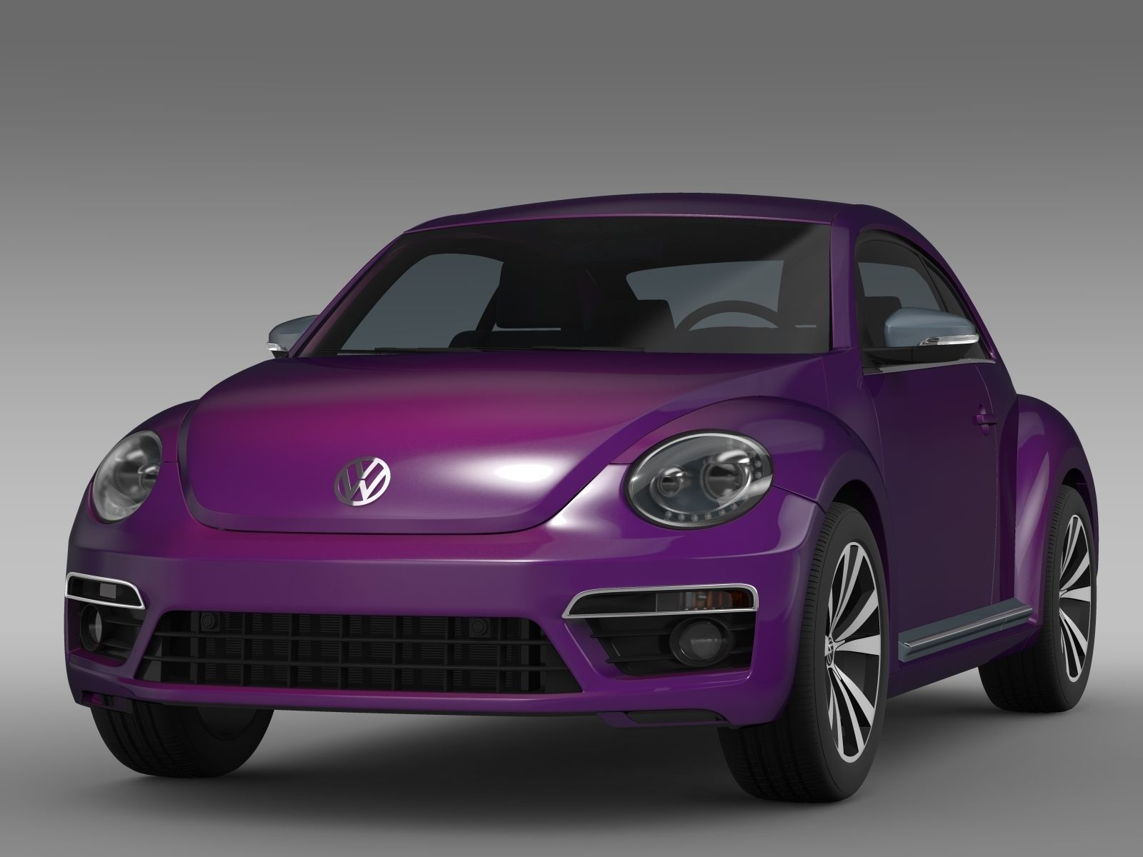 vw beetle pink edition concept 2015 3d model max obj 3ds. Black Bedroom Furniture Sets. Home Design Ideas