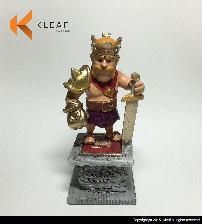 Barbarian King Statue 3D Model 3D