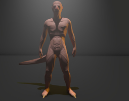 Concept Character Rigged 3D Model