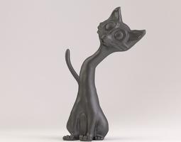 cat phone stand 3d printable model