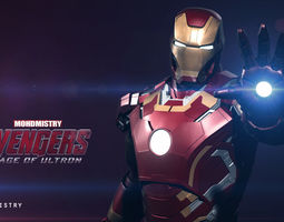 Iron Man - Avengers Age Of Ultron mark 43 - Rigged - 3D Model