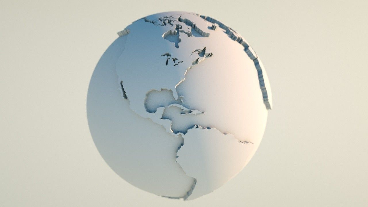 Earth 3D Model Globe illustration 3D Model Game ready .max ...