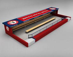 Baseball stadium dugout 3D