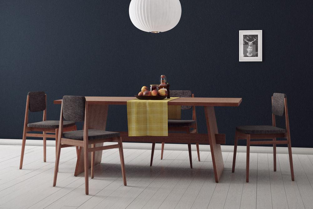 Dining room set 3d model max for Dining room 3d model