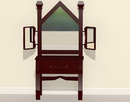 Basic Dresser Table 3D Model