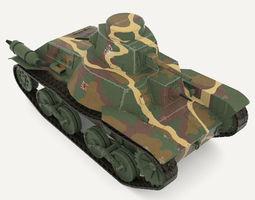 Tank Type 95 Ha-Go 3D Model
