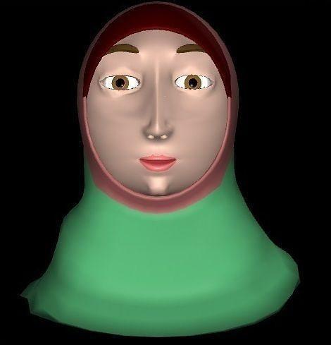 woman head 3d model rigged ma mb 1
