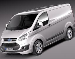 Ford Transit Custom 2013 Van 3D Model