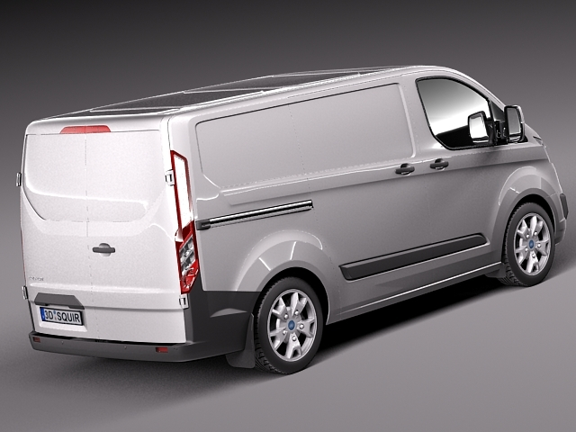 ford transit custom 2013 van 3d model max obj 3ds fbx. Black Bedroom Furniture Sets. Home Design Ideas