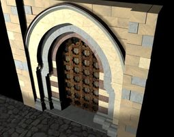 Medieval Lombard Style Portal no 1 3D Model