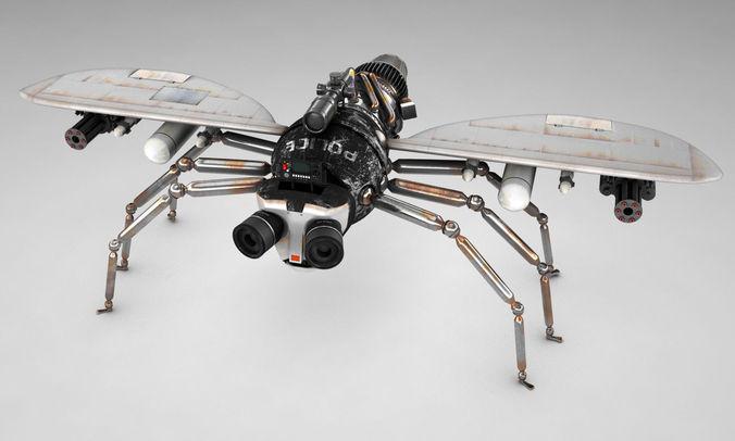 Police fly3D model