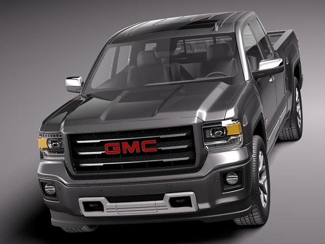 gmc sierra 1500 crew cab 2013 3d model max obj 3ds fbx c4d lwo lw lws. Black Bedroom Furniture Sets. Home Design Ideas