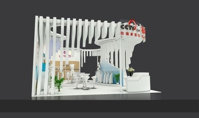 Exhibition Stall 3d Model Free Download : Exhibition area dmax  d model max