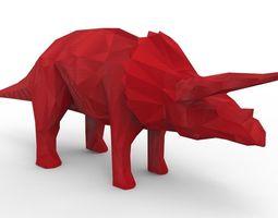 Rhino Dinosaur 3D Model game-ready