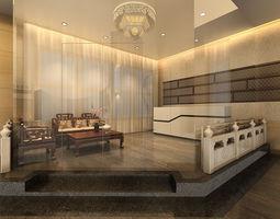 Chinese Lounge tea habitat 3D model