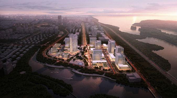 City business center3D model