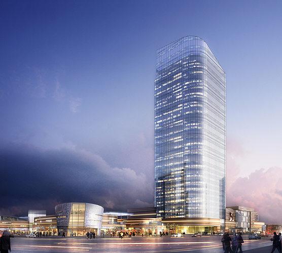 skyscraper business center 3d model max tga 1